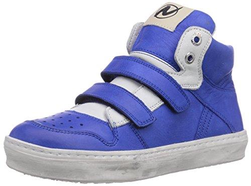 Naturino NATURINO LOU VELCRO - zapatillas deportivas altas de cuero niños azul - Blau (AZZURRO -BIANCO9163)