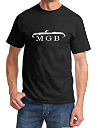 MG MGB Convertible Sports Car Classic Outline Design Tshirt