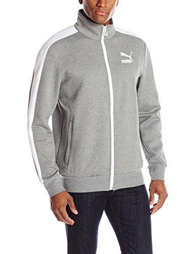 PUMA Men's Archive T7 Track Jacket, Medium Gray Heather, XX-Large