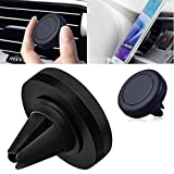 Glumes Magnetic Mount, Universal Air Vent Magnetic Car Mount Phone Holder, for Cell Phones and Mini Tablets with Fast Swift-Snap Technology (Black)
