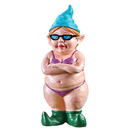 Tropical Garden Decor - Collections Beach Garden Gnome Funny Summer Tropical Party Outdoor Statues Decoration, Bikini Babe