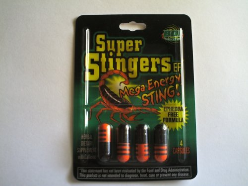 Super Stingers Energy Ephedra Pills