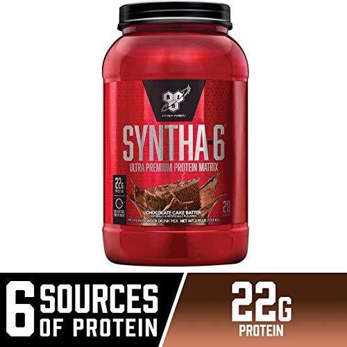 BSN SYNTHA-6 Whey Protein Powder, Micellar Casein, Milk Protein Isolate, Chocolate Cake Batter, 28 Servings (Packaging May Vary)