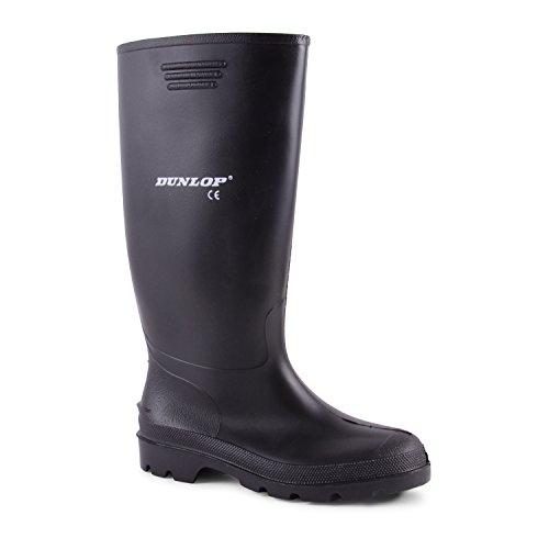 Dunlop - Stivali di gomma da uomo con gambale alto, colore nero, Nero (nero), 12 UK