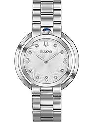 Ladies Bulova Rubaiyat Diamond Stainless Steel Watch 96P184