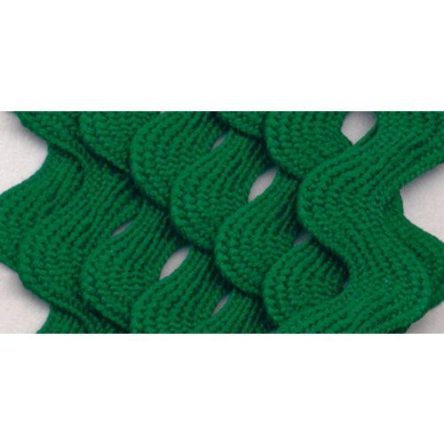 Wrights 117-401-044 Polyester Rick Rack Trim, Emerald, Medium, 2.5-Yard