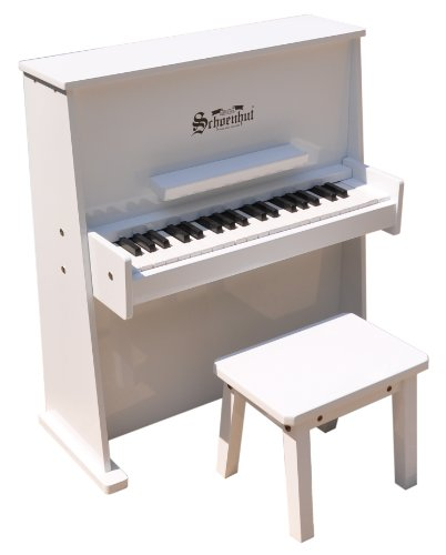 Schoenhut 3798W - 37 Key Day Care Durable with Bench (White)