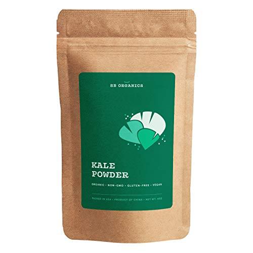 SB Organics Kale Powder, USDA Organic Antioxidant-Rich Superfood with Fiber, Vitamins and Minerals - 8 oz