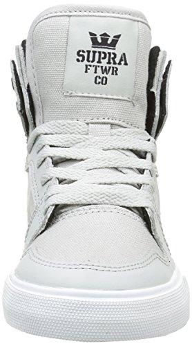 Supra Vaider - Zapatillas Unisex Niños Gris (Light Grey/Black/White)