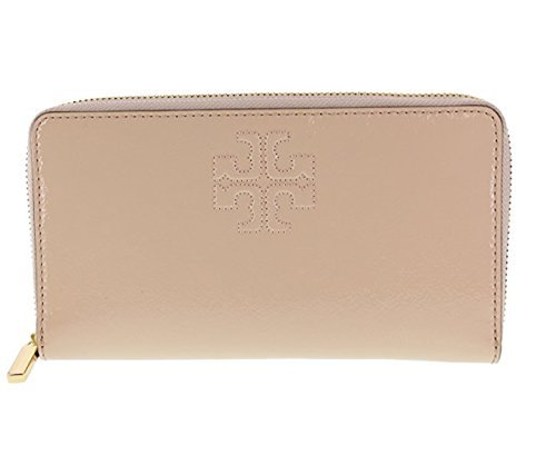 Tory Burch Charlie Patent Leather Zip Continental Wallet, Style No. 34048 (Light Oak) by Tory Burch