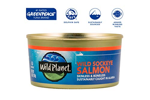 Wild Planet, Wild Pink Salmon, 6 Ounce, Pack of 12 3