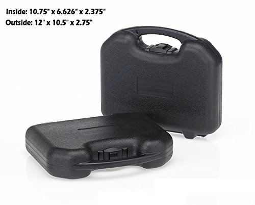 HUNSAKER USA: Hard Case Universal Storage Box (Inside Dimensions: 10.75'' x 6.626'' x 2.375'' - Black)