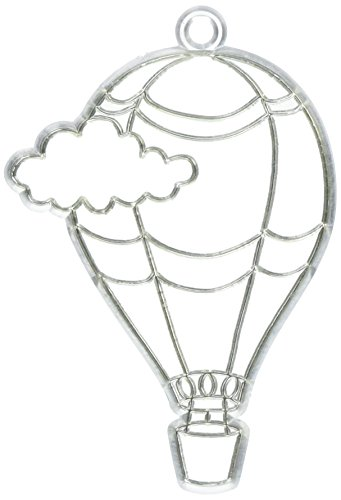 Darice Paintable Kids Hot Air Balloon Sun Catcher, 2.875