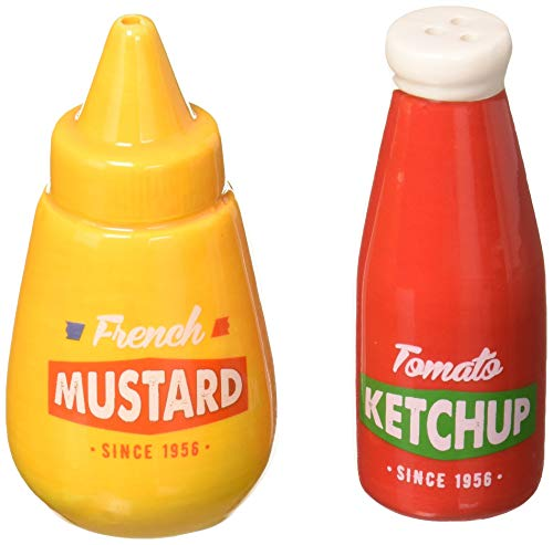 Abbott Collection 27-KITSCH-642 Ketchup&Mustard Salt & Pepper-4