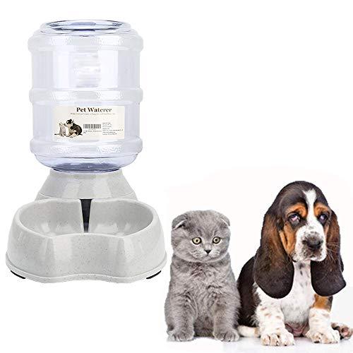 meleg otthon Automatischer Futter und Wasserspender für Katzen und Hunde,Futterautomat und Wasserspender im Set,Hund Schüssel Wassertränke jeweils 3.8 L