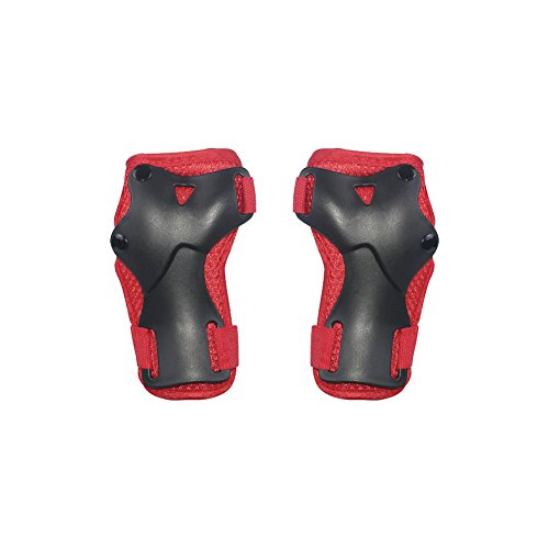 LANOVAGEAR Kids Adjustable Protective Gear Set Knee Elbow Pads Wrist Guards for Skateboard Bicycle Sports Safety (Red, Small) by LANOVAGEAR (Image #9)