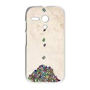 Motorola G Cell Phone Case White Smile Simple Dark Hewxv