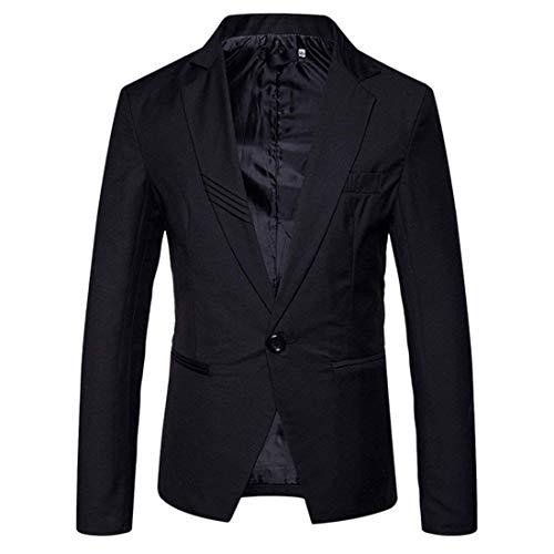 Slim Giacca Fit Del Moda Uomo Uomini Tailleur Schwarz Sportiva Giacche Una Pulsante Casual Partito Moderna Blazer 8FwgTR