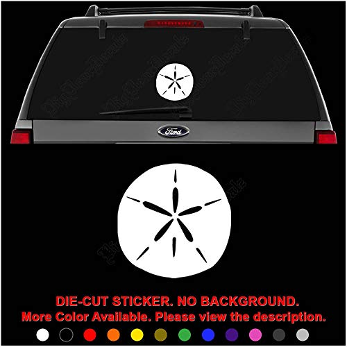 Sand Dollar Sea Animal Die Cut Vinyl Decal Sticker for Car Truck Motorcycle Vehicle Window Bumper Wall Decor Laptop Helmet Size- [12 inch/30 cm] Tall || Color- Gloss White (Sea Die Cut Stickers)