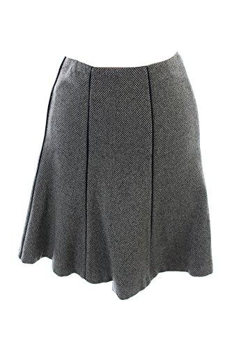 (Lauren Ralph Lauren Womens Wool Faux Trim A-Line Skirt Brown 6)
