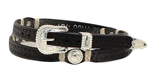 Western Stamp Rawhide Concho Hat Band ()