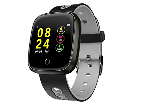 Smart Watch Blood Pressure Monitor for Women Men - Smart Wristband Heart Rate Monitor Blue Tooth Fitness Smartwatch (Gray)]()