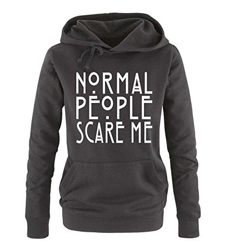 Normal Comedy Xl People Hoodie Taglia Colori Vari Sweater Cappuccio Scare Nero Shirts Bianco Donna Me S 55qrUw