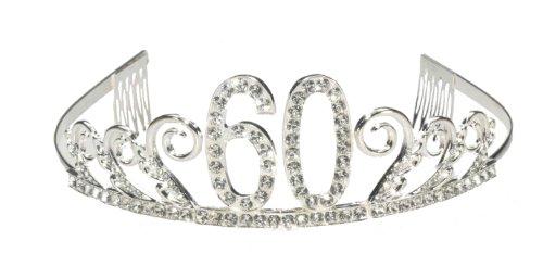 Forum Novelties Rhinestone Encrusted 60th Happy Birthday Tiara with Keepsake Box ()