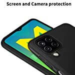 Amazon Brand – Solimo Mobile Cover for Samsung Galaxy M12 (Soft & Flexible Back case), Black