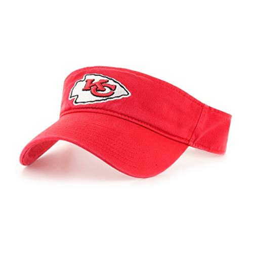 OTS NFL Kansas City Chiefs Male Visor, Red, One Size