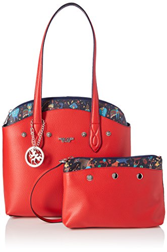 rosso Rosso X Cm Guidi Borsa Con w Piero L 21x18 Bag H Papavero 5x4 Tote Busta Donna UZFzq64