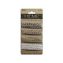DARICE 1936-173 20-Pound Hemp Twist Cord, 24m, Metallic