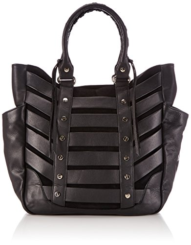 Kaviar Gauche Moto Shopper, Sac shopping pour femmes Noir (noir (noir / argent))