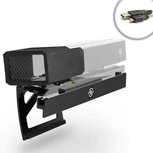 (ENHANCE Xbox Kinect 2.0 TV Stand Mount Clip for Microsoft Xbox One Kinect Sensor Bar * Includes BONUS Camera Privacy Shield - Works for Sony , RCA , Samsung , Panasonic , Toshiba and More LCD , LED , OLED , and 4K TVs)