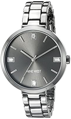 Nine-West-Women-s-NW-1829GNGN-Crystal-Accented-Gunmetal-Bracelet-Watch