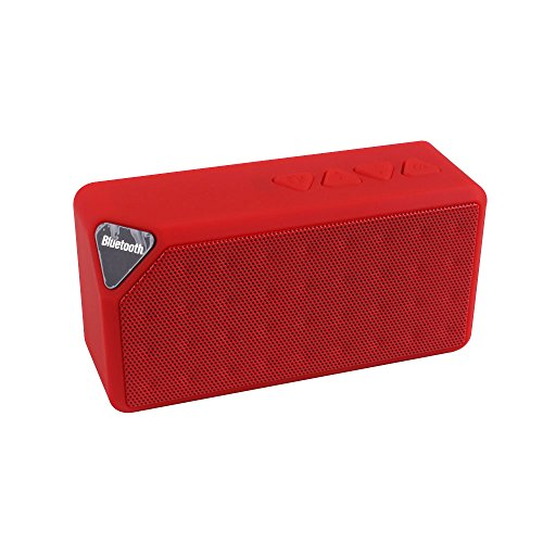 Ultra Bass Portable Bluetooth Dual Speakers (Red) Set Of 4 - 9