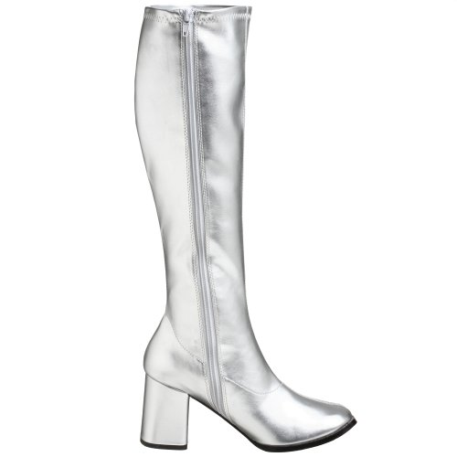 Pleaser by Women's Silver Boot Gogo 300 Funtasma wRq50wC