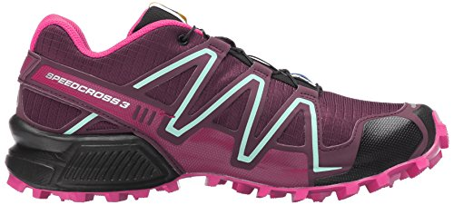 Zapatillas De Running Salomon Mujeres Speedcross 3 Trail Bordeaux / Hot Pink / Lotus Pink
