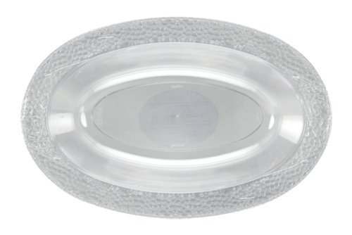Lillian Tablesettings 3 Count Pebbled Oval Bowl, 32 oz, Clear