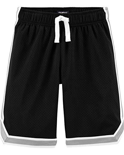 Osh Kosh Boys' Little Mesh Shorts, Very Very Black/Wolf Grey, 14 ()