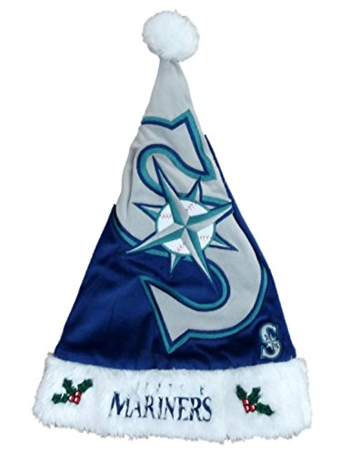 Forever Seattle Mariners Plush Fleece Christmas Hat Holiday Hat