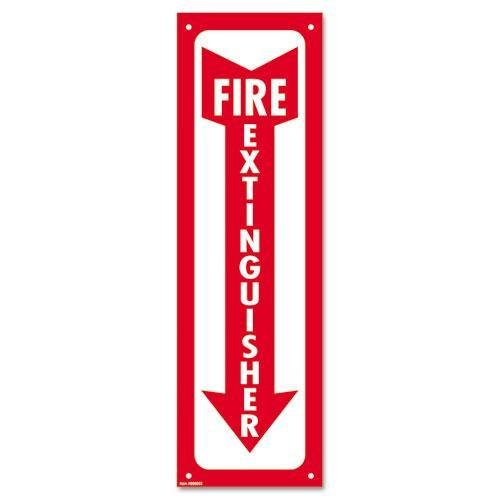 Consolidated Stamp 098063 Glow-In-The-Dark Safety Sign, Fire Extinguisher, 4 x 13, Red by Cosco