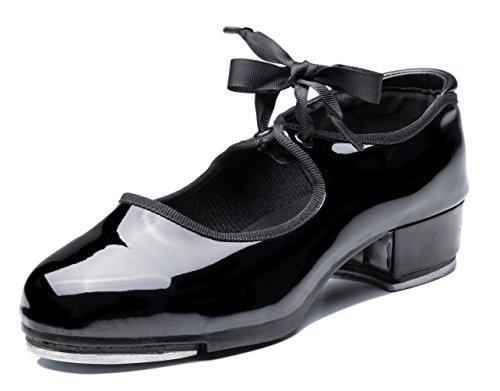 Joocare Women's Lace Up Jazz Tap Dance Shoes (Adult/Big Kid)