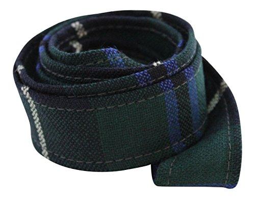KWH 100% Pure Wool Traditional Tartan Ribbon - 1 Inch x 54 Inches - Douglas