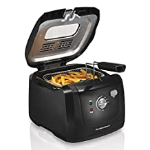 Hamilton Beach 35021C 2-Liter Oil Capacity Deep Fryer with Cool Touch Sides, Black