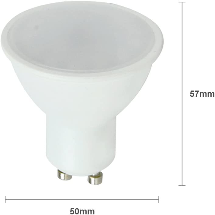 Pack of 10 MiniSun Modern Fire Rated Cement//Stone Effect GU10 Recessed Ceiling Downlight//Spotlights Complete with 5w LED Bulbs 6500K Cool White