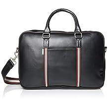 Ben Sherman Men's Iconic Briefcase Commuter Bag, Black
