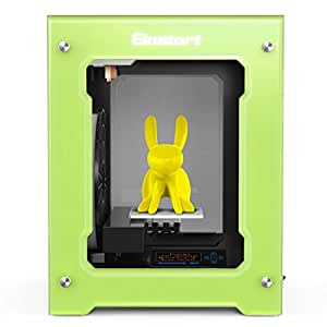 2017 Newest High Performance Shining 3D Einstart-S Desktop 3D Printer (Alloy Framework, High Accuracy, Stability and Speed, Large Build Size) - Green