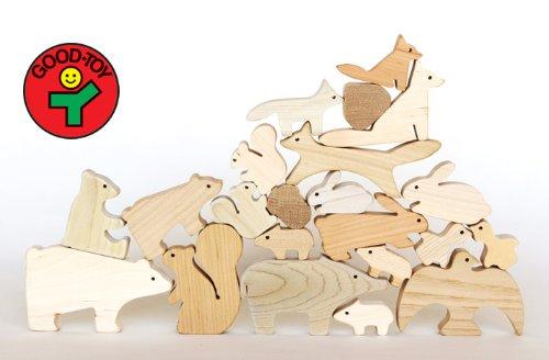 森のどうぶつみき【国産材使用で無塗装、安心安全の木のおもちゃ】 B00KWTISQM, 明りと香り本舗 ac9557c3