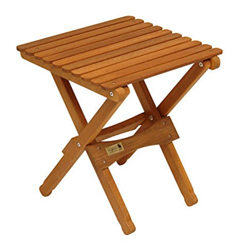 Byer of Maine 18″ Wooden Camping and Patio Outdoor Folding End Table – Natural Finish